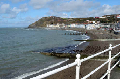 Aberystwyth seafront Wales