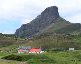 An Sgurr ridge Eigg Scotland
