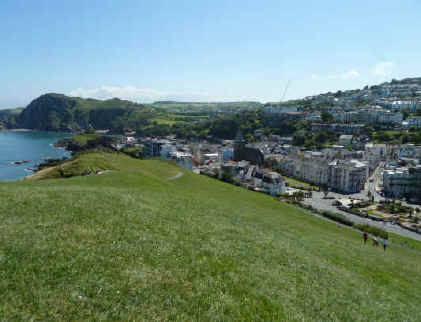 Ilfracombe - view towards the harbour