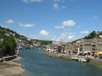 Looe, Cornwall - harbour                                   entrance