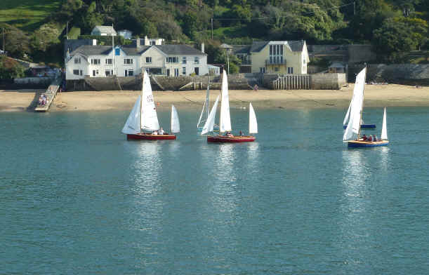 Crossing to East Portlemouth and Salcombe yawls