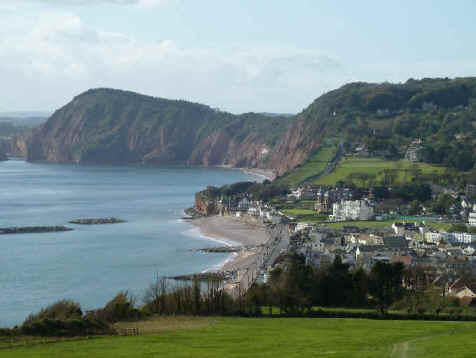 Sidmouth from the coast path