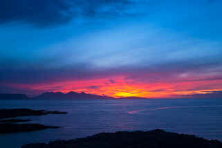 Sunset over Rum and Eigg Scotland