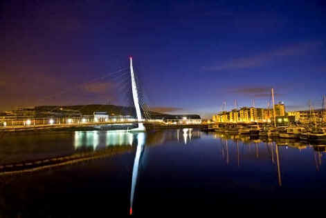 Sail Bridge Swansea Wales