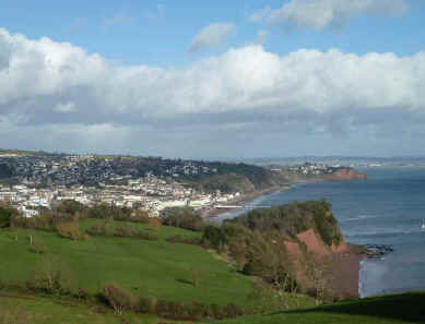 Teignmouth from the south west coast path
