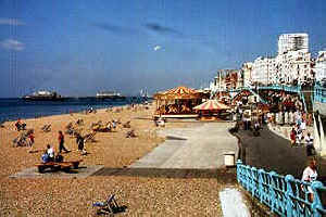 Brighton coast and hotels