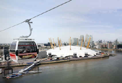 Cable car to Greenwich