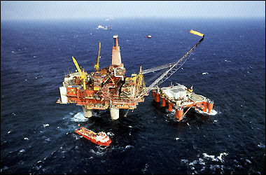Scotland North Sea Oil Rig
